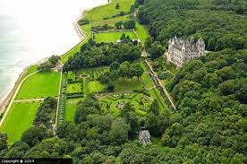 dunrobin castle arial view
