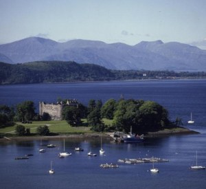 Dunstaffnage Castle where the Highland Games were played
